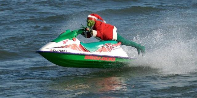 The Grinch is Taking Part in Alexandria VA's Christmas Eve Waterskiing Santa Festivities - Thegirlsofrealestate.com - MAKE PLANS NOW FOR EXCITING NORTHERN VIRGINIA HOLIDAY ACTIVITIES 2016